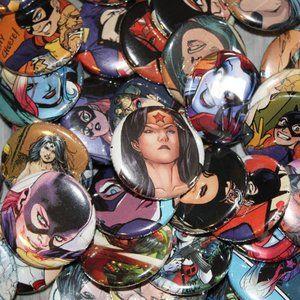 15 Random DC Comics Pins